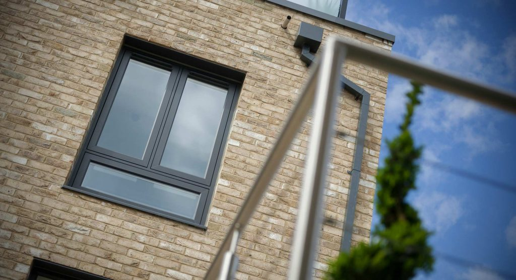 Grey uPVC residence 9 windows