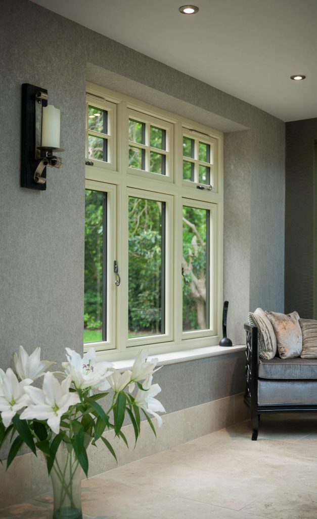 White installed timber look uPVC windows