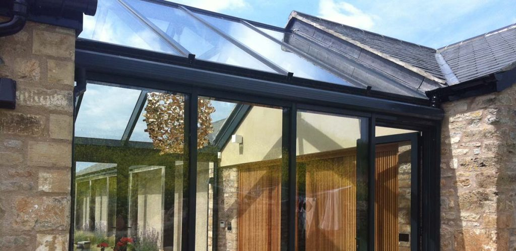 Aluminium conservatory roof
