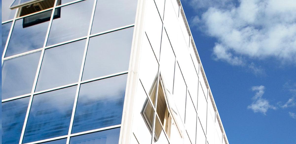 Aluminium commercial curtain window wall