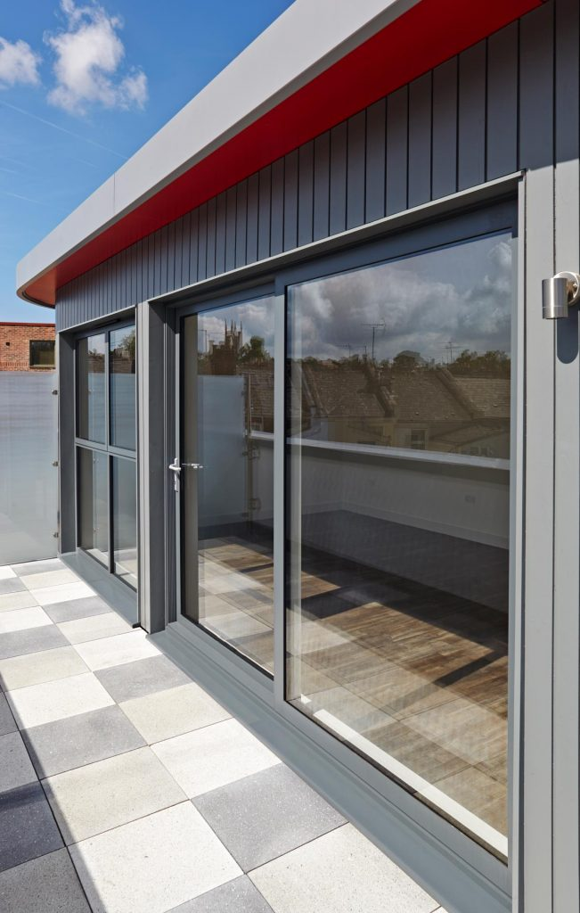 Smart aluminum sliding patio door