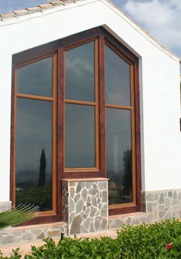 Custom made angled windows