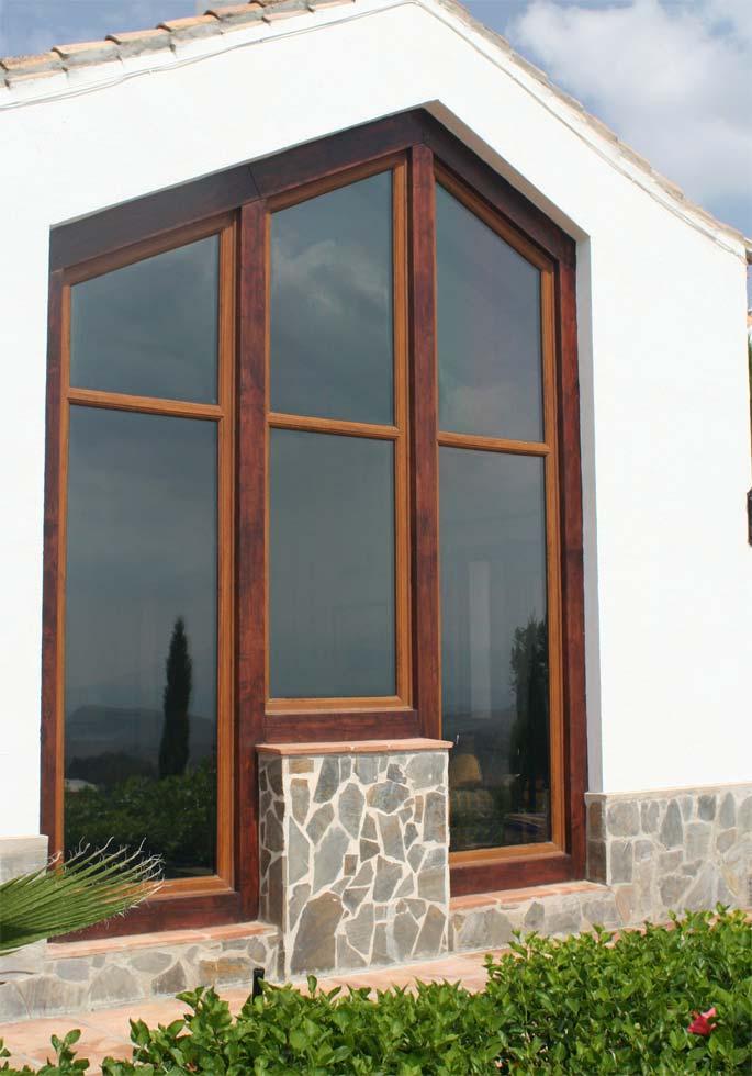 Custom made angled windows