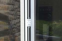 White bifold door hinges