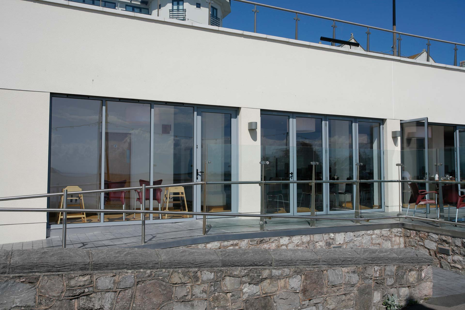 aluminium doors supplied for commercial project in Weston-super-Mare