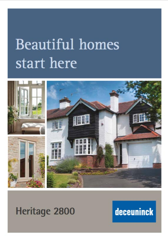 Deceuninck 2800 PVCu window brochure