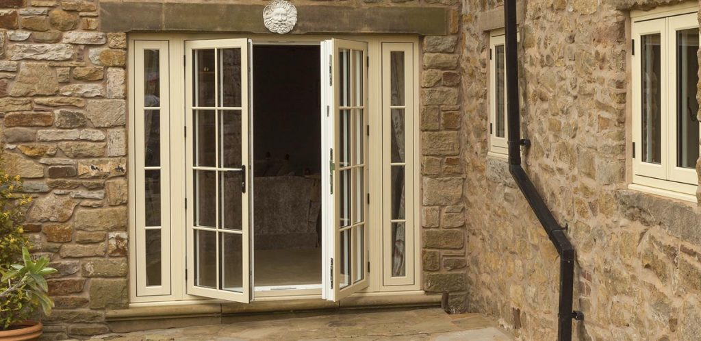 Double entrance doors manufactured using Infinity uPVC profile