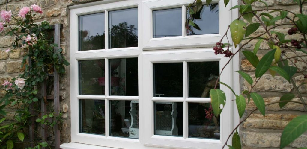 Double glazed upvc windows with astragal bars