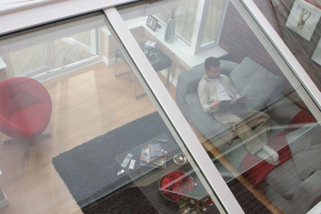 Glazed uPVC conservatory roof system