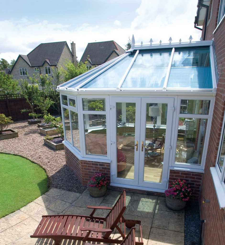 Conservatory with self-clean glass