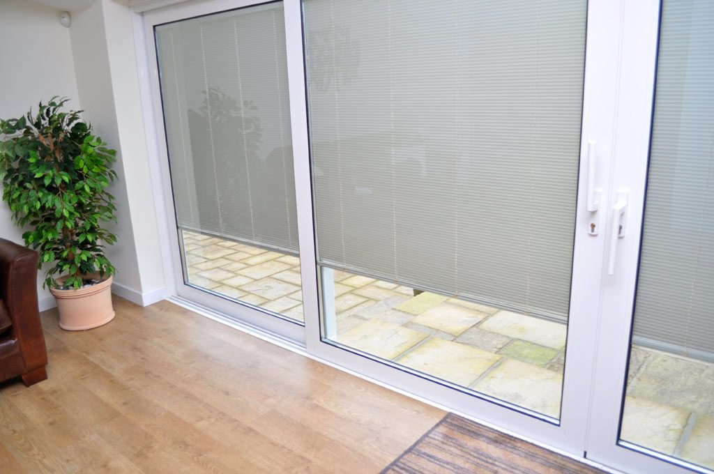 Internal blinds for large patio door