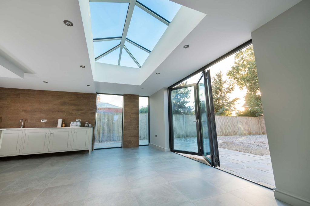 Lantern roof system made using uPVC profile