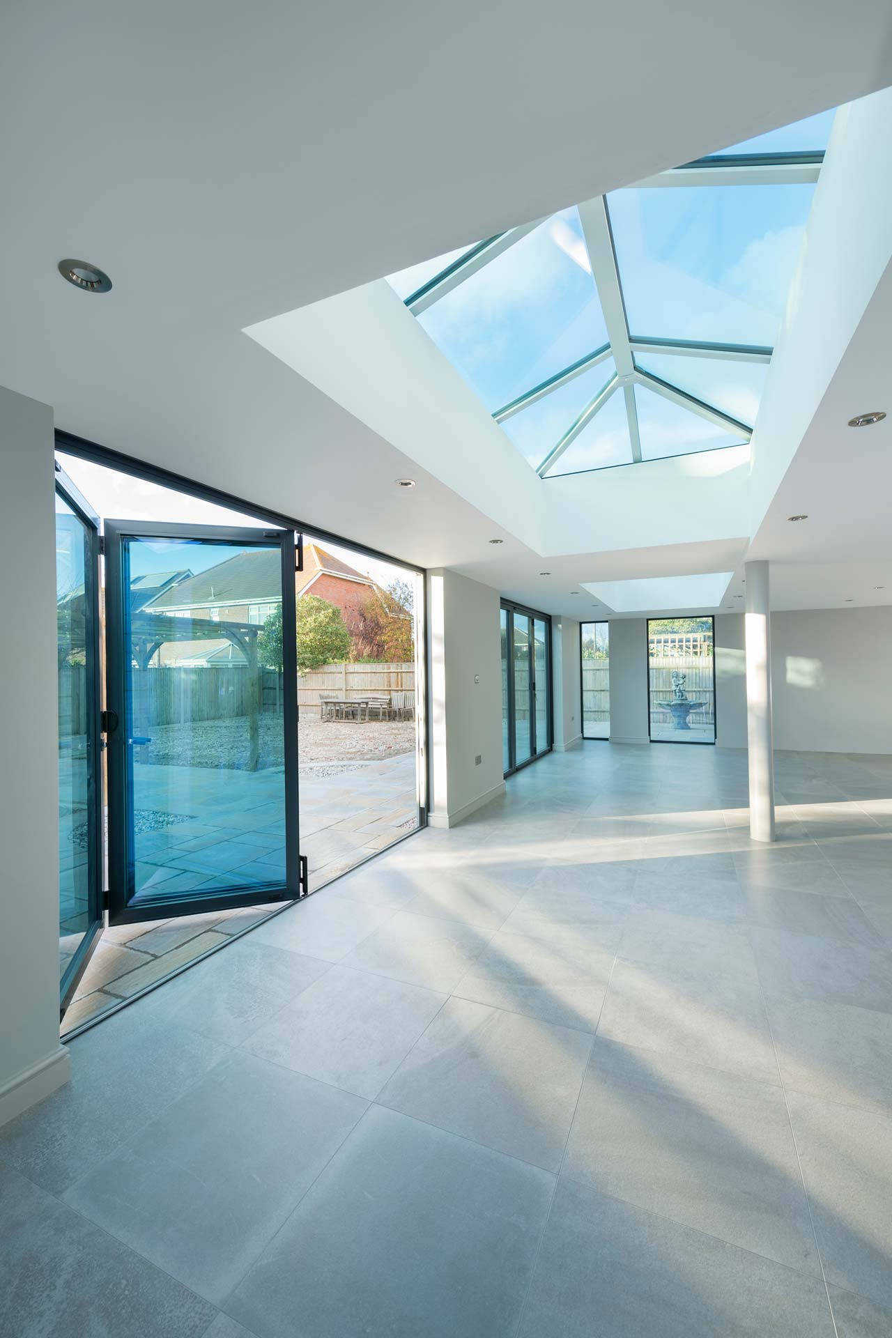 Lantern roof installed in residential extension