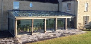Large lean to conservatory project with aluminium roof