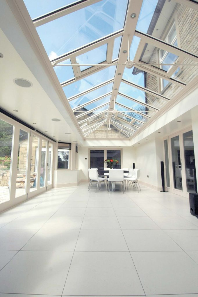 Modern orangery installed with uPVC windows and doors