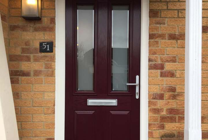Mulberry composite door manufactured using the Royal composite door system