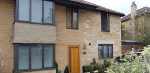 Residential aluminium windows installation