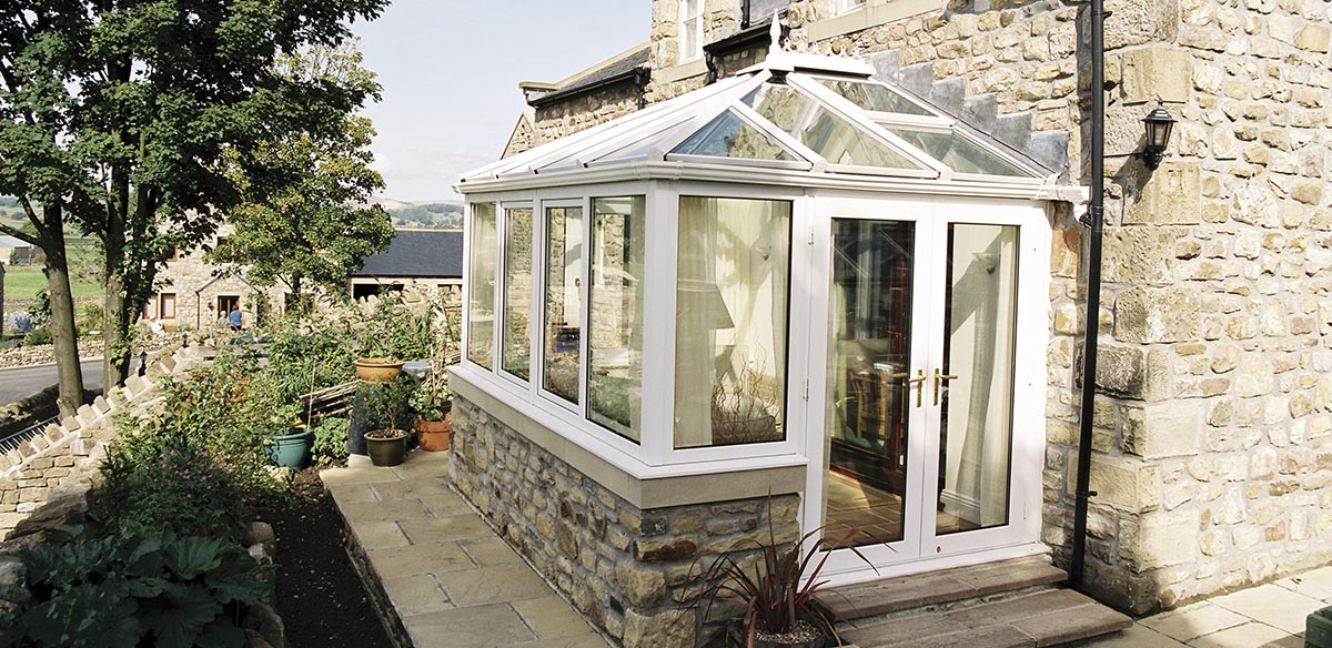 Small edwardian uPVC conservatory
