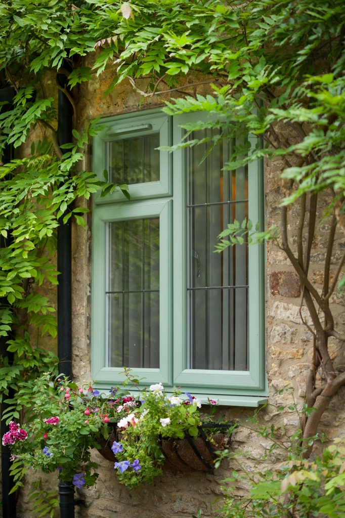 Chartwell green uPVC casement windows