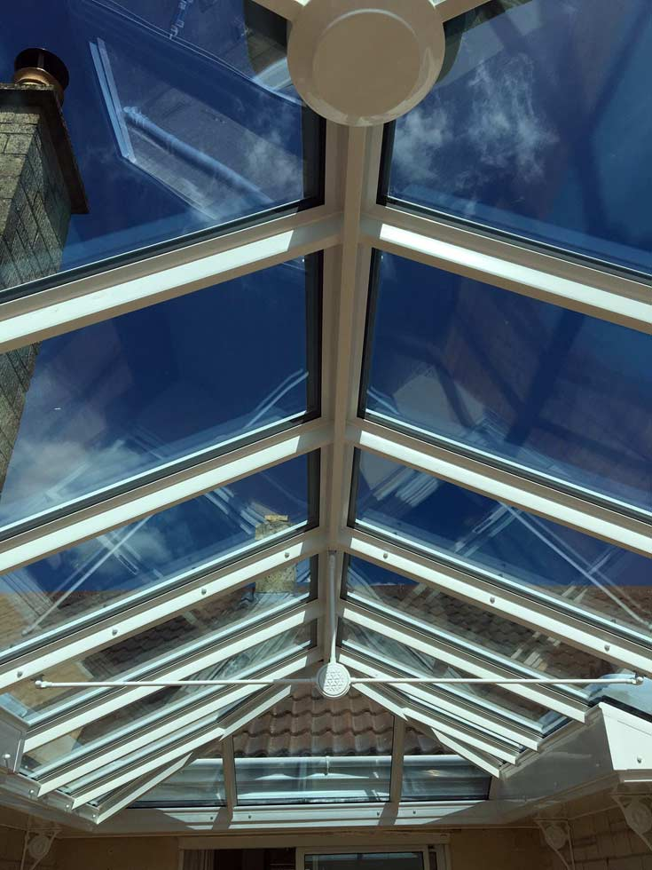 uPVC roof with Pilkington Activ self-clean glass