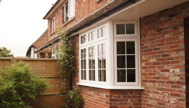 uPVC timber look Infinity windows with georgian bars supplied and installed for residential property