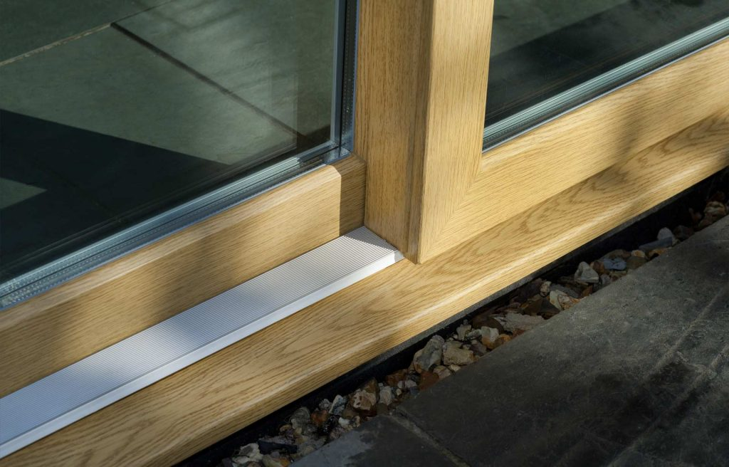 uPVC sliding patio door manufactured using Deceuninck uPVC profile