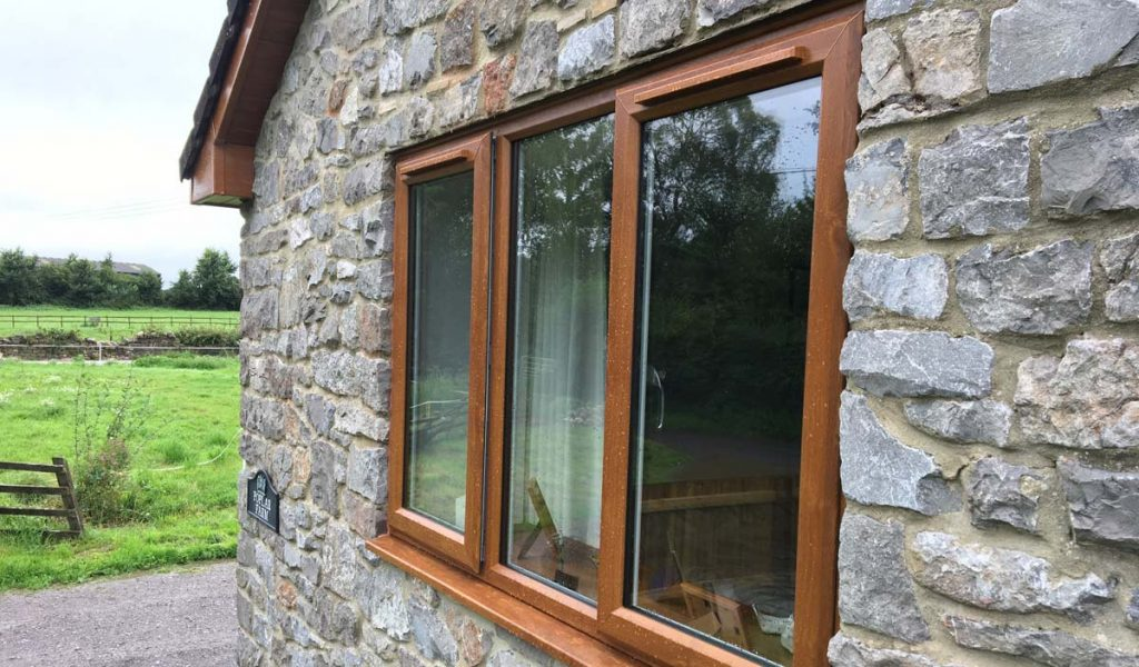 uPVC timber look windows