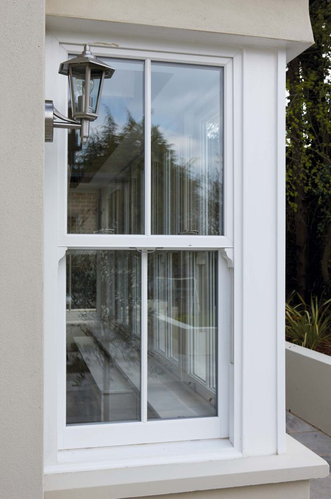 Vertical slider made using upvc from Rehau
