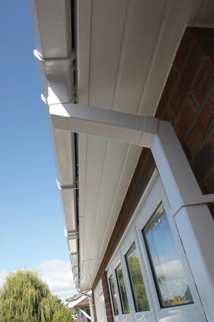 Replacement uPVC fascias and soffits installed for homeowner
