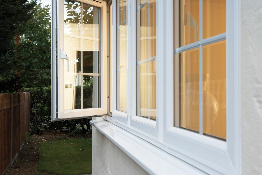 white uPVC windows manufactured using Deceuninck profile