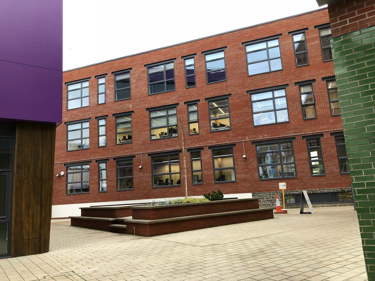 The Paintworks offices in Bristol a project for which we supplied aluminium glazing products